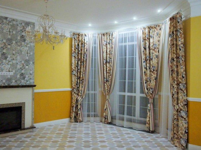 Как стильно повесить шторы?